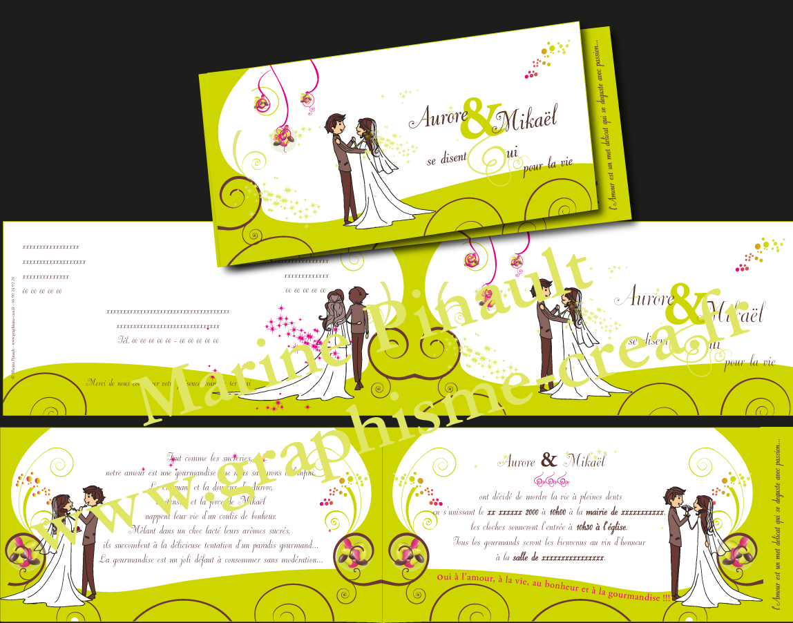 Mpgraphisme cr a mariage - Faire part mariage gourmandise ...